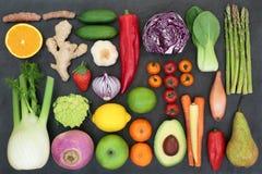Comida de la dieta del Detox del hígado fotografía de archivo