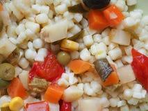 comida de la ensalada de pasta Imagen de archivo