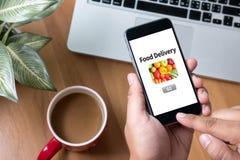 Comida de la entrega de la comida Imagenes de archivo
