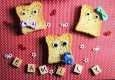 comida de la familia del pan Fotos de archivo