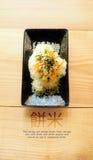 Comida de la fusión del diseño del arroz pegajoso japonesa y tailandesa Imagen de archivo libre de regalías