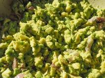 Comida de la inmersión del Guacamole Fotos de archivo