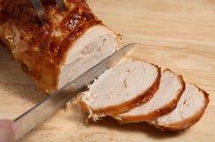 Comida de la junta de la cena de la carne asada de Turquía fotos de archivo libres de regalías