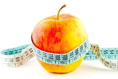 Comida de la manzana de la dieta Imágenes de archivo libres de regalías