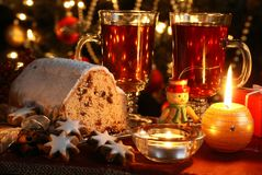 Comida de la Navidad Fotografía de archivo libre de regalías