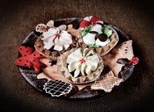 Comida de la Navidad Imagen de archivo libre de regalías
