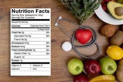 Comida de la nutrici?n para la consumici?n limpia de la comida sana de la buena salud fotos de archivo libres de regalías