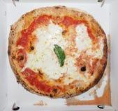 Comida de la pizza de Margherita Imagenes de archivo