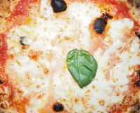 Comida de la pizza de Margherita Foto de archivo