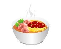 Comida de la sopa de fideos Imagen de archivo