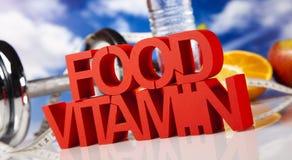 Comida de la vitamina Imagenes de archivo