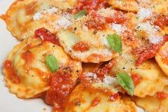 Comida de las pastas de los raviolis Imagenes de archivo