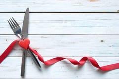 Comida de las tarjetas del día de San Valentín Imágenes de archivo libres de regalías