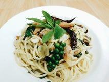 Comida de los espaguetis Imagen de archivo