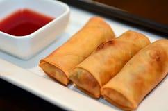 Comida de los lomos - croquetas chinas Fotos de archivo