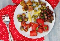 Comida de los Tapas Imagen de archivo