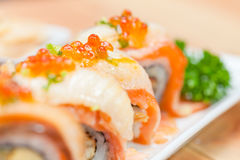 Comida de Maki Japanese Foto de archivo libre de regalías