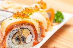 Comida de Maki Japanese Fotos de archivo libres de regalías