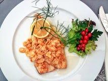 Comida de pescados Foto de archivo libre de regalías