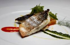 Comida de pescados fotos de archivo
