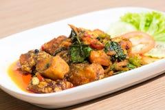 Comida de pescados tailandesa, comida tailandesa Imagen de archivo libre de regalías