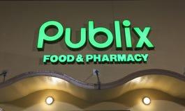 Comida de Publix y tienda de la farmacia Imagen de archivo libre de regalías