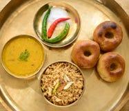 Comida de Rajasthani del indio Fotos de archivo libres de regalías