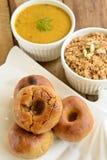 Comida de Rajasthani del indio Imagen de archivo