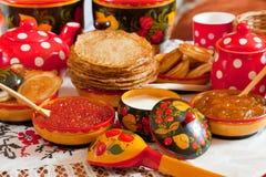 Comida de Shrovetide Imagen de archivo libre de regalías