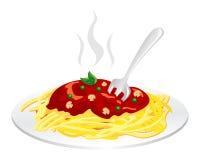 Comida de Spagheti Foto de archivo
