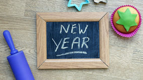 Comida del Año Nuevo Imágenes de archivo libres de regalías