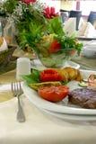 Comida del almuerzo Imagen de archivo libre de regalías