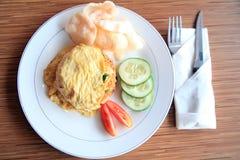 Comida del asiático del arroz frito Fotografía de archivo