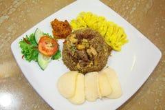 Comida del asiático del arroz frito Imágenes de archivo libres de regalías