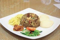Comida del asiático del arroz frito Foto de archivo