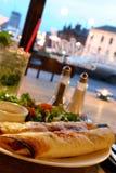 Comida del Burrito Fotografía de archivo