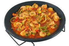 Comida del camarón Imagen de archivo