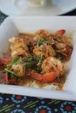 Comida del camarón imagenes de archivo