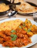Comida del curry de Vindaloo del pollo Fotografía de archivo libre de regalías