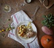 Comida del francés de los paupiettes del cerdo Imagen de archivo