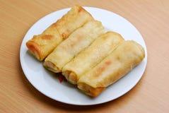 Comida del indonesio de Lompia Imagen de archivo libre de regalías