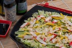 Comida del japonés de la ensalada Fotografía de archivo