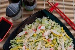 Comida del japonés de la ensalada Imagenes de archivo