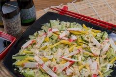 Comida del japonés de la ensalada Foto de archivo libre de regalías