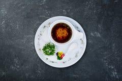 Comida del japonés de la sopa de Miso imagen de archivo libre de regalías