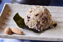 Comida del japonés de Onigiritraditional Imagen de archivo