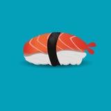 Comida del japonés del sushi del camarón ilustración del vector