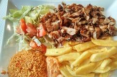 Comida del kebab Imagenes de archivo