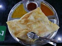 Comida del malasio de Roti Canai Fotos de archivo