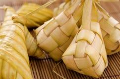Comida del malayo de Ketupat. Fotografía de archivo
